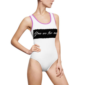 You are the one  - Women's Classic One-Piece Swimsuit by Dray-A