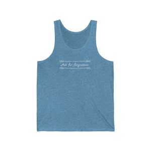 Ask for forgiveness - Unisex Jersey Tank by Dray-A