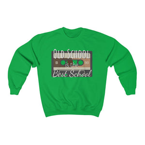 Old school is the best school - Unisex Heavy Blend™ Crewneck Sweatshirt by Dray-A