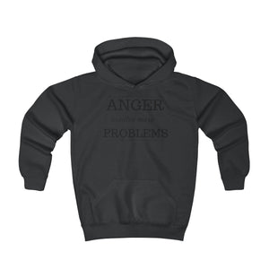 Anger creates more problems - Youth Hoodie by Dray-A
