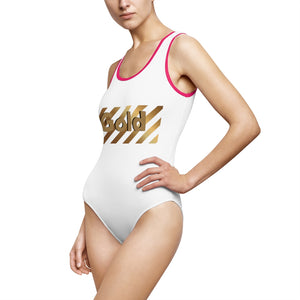 Gold - Women's Classic One-Piece Swimsuit by Dray-A