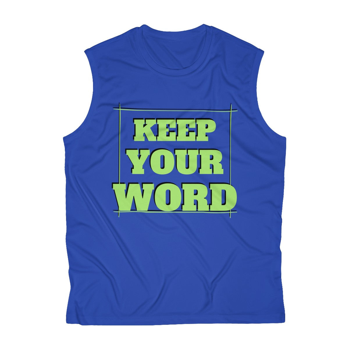 Keep your word - Men's Sleeveless Performance Tee by Dray-A