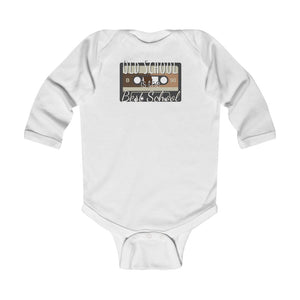 Old school is the best school - Infant Long Sleeve Bodysuit by Dray-A