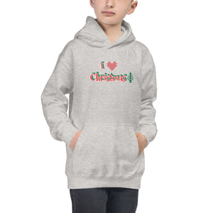 I LOVE CHRISTMAS - Kids Hoodie by Dray-A