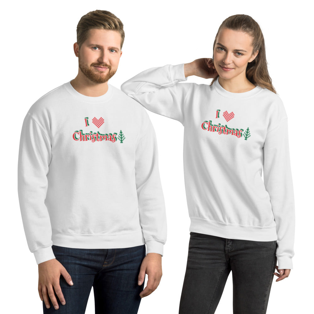 I LOVE CHRISTMAS - Unisex Sweatshirt by Dray-A