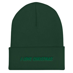 I LOVE CHRISTMAS - Cuffed Beanie by Dray-A