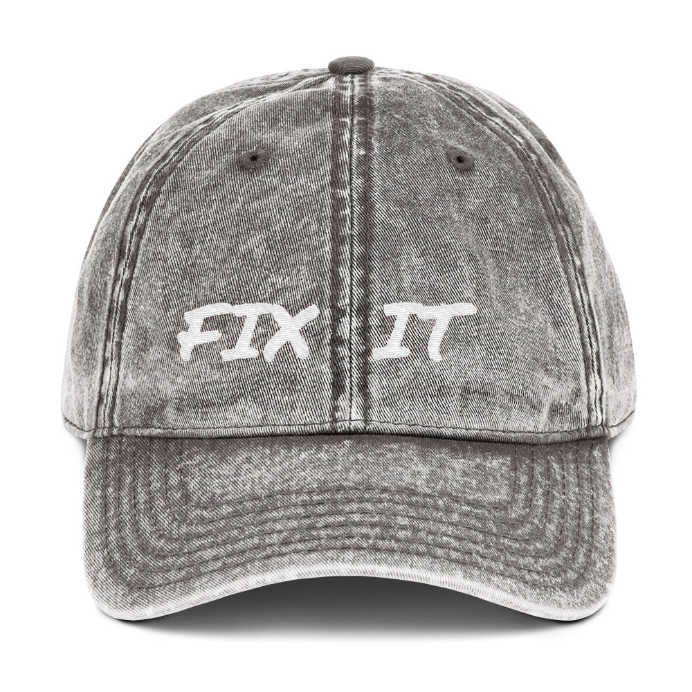 FIX IT - Vintage Cotton Twill Cap by Dray-A