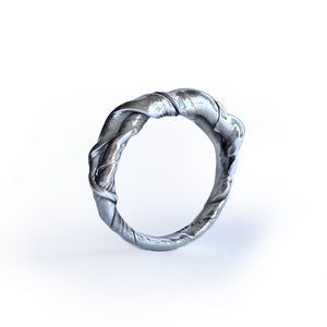ShinyWave V4 -Unika-fingerring i Sterling sølv
