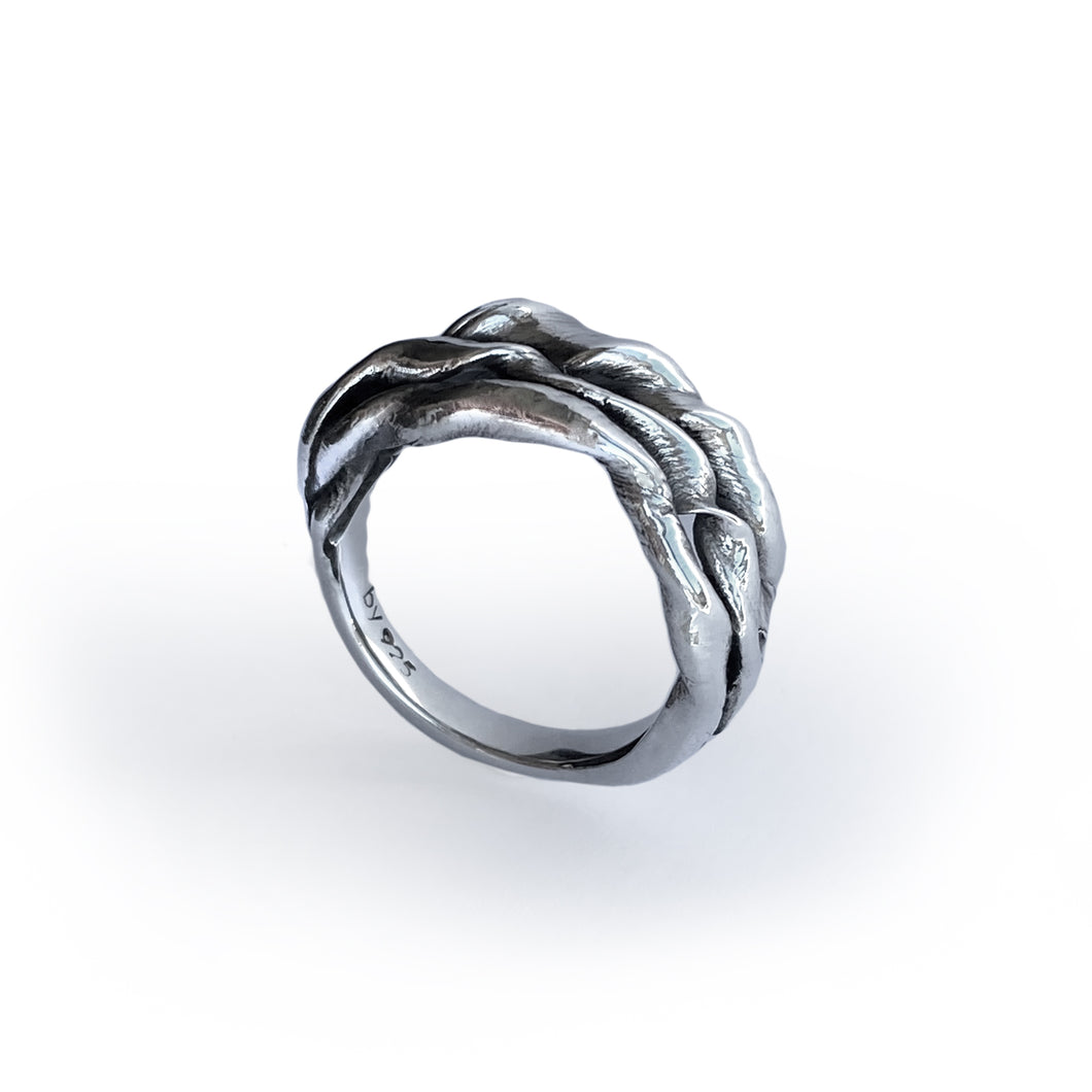 ShinyWave V3 -Unika-fingerring i Sterling sølv
