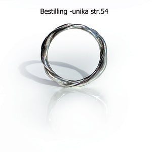 ShinyWave V2 -Unika-fingerring i Sterling sølv