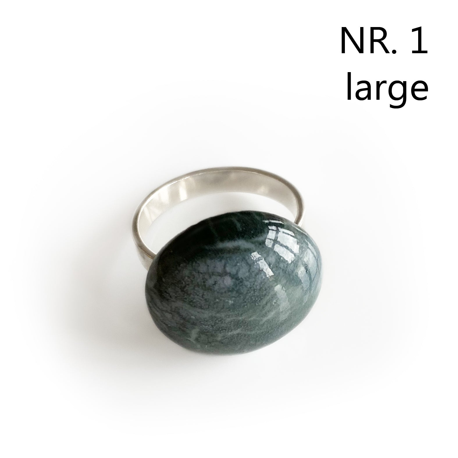 MarvelMarble - porcelæns-fingerring på Sterling sølv