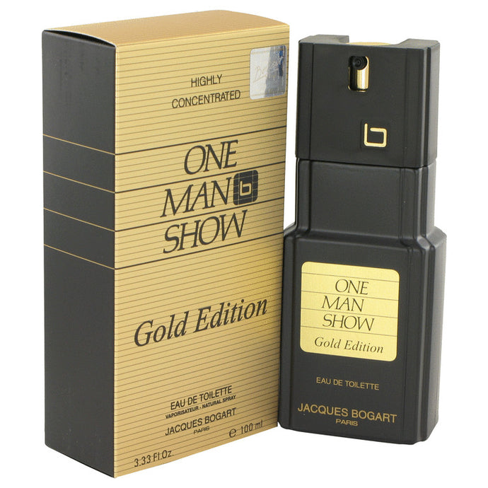 One Man Show Gold by Jacques Bogart Eau De Toilette Spray 3.3 oz for Men