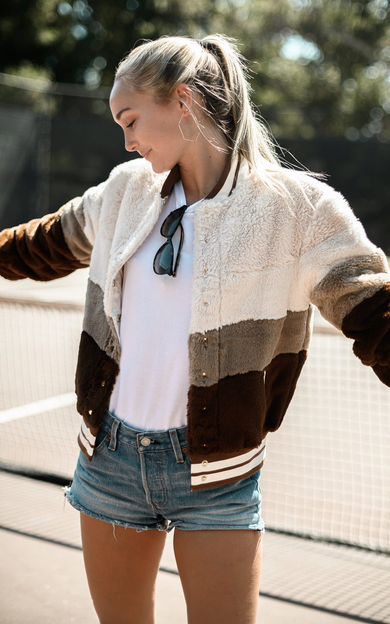Brown Stripe Jacket