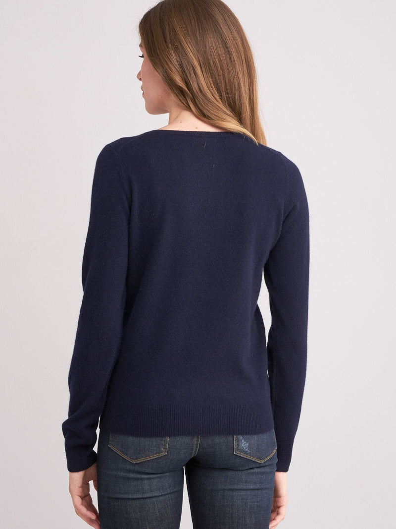 Navy V Neck Sweater