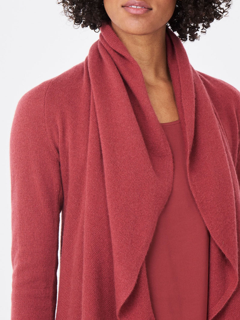 Terracotta Open Cashmere Cardigan
