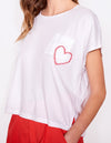 Heart Pocket Square Tee