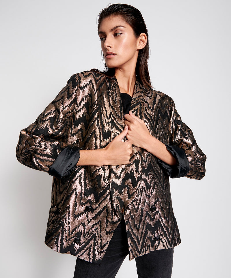 Wave Length Metallic Blazer