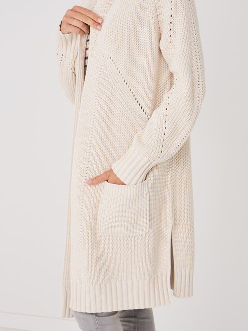 Long Chunky Ribbed Cardigan
