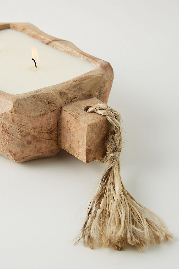 Small Driftwood Candle Tobacco