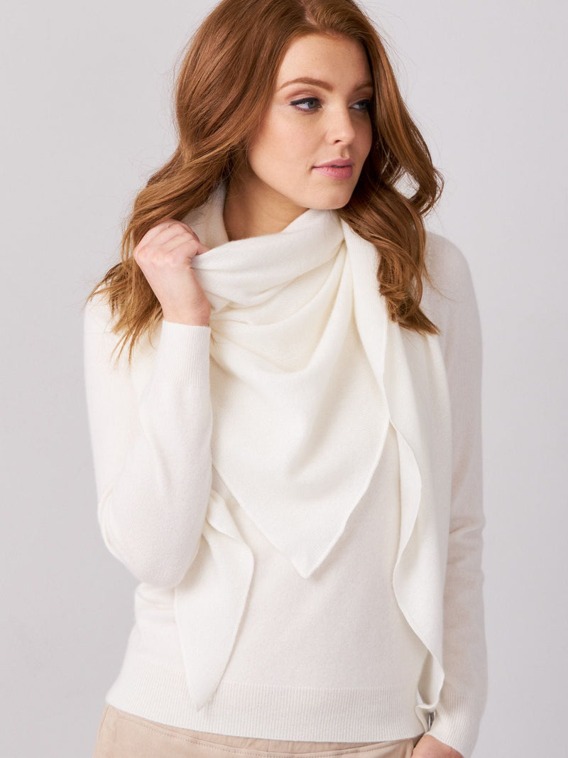 Triangular Cashmere Scarf
