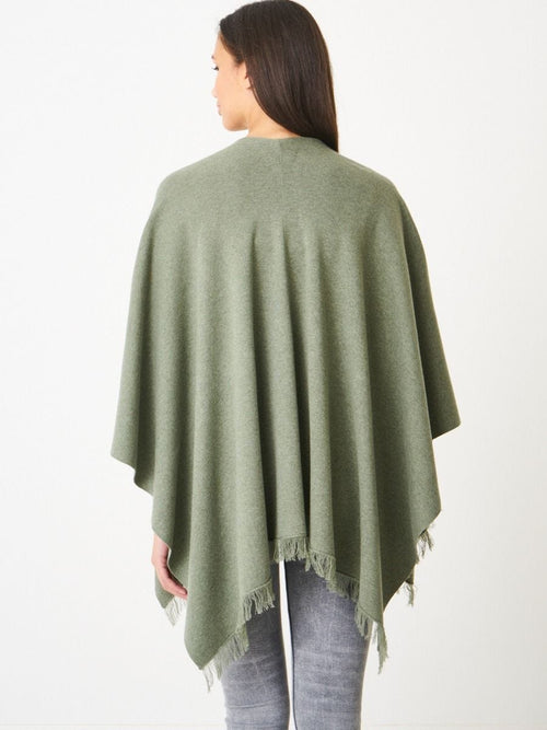 Fine Knit Organic Cotton Cape Moss