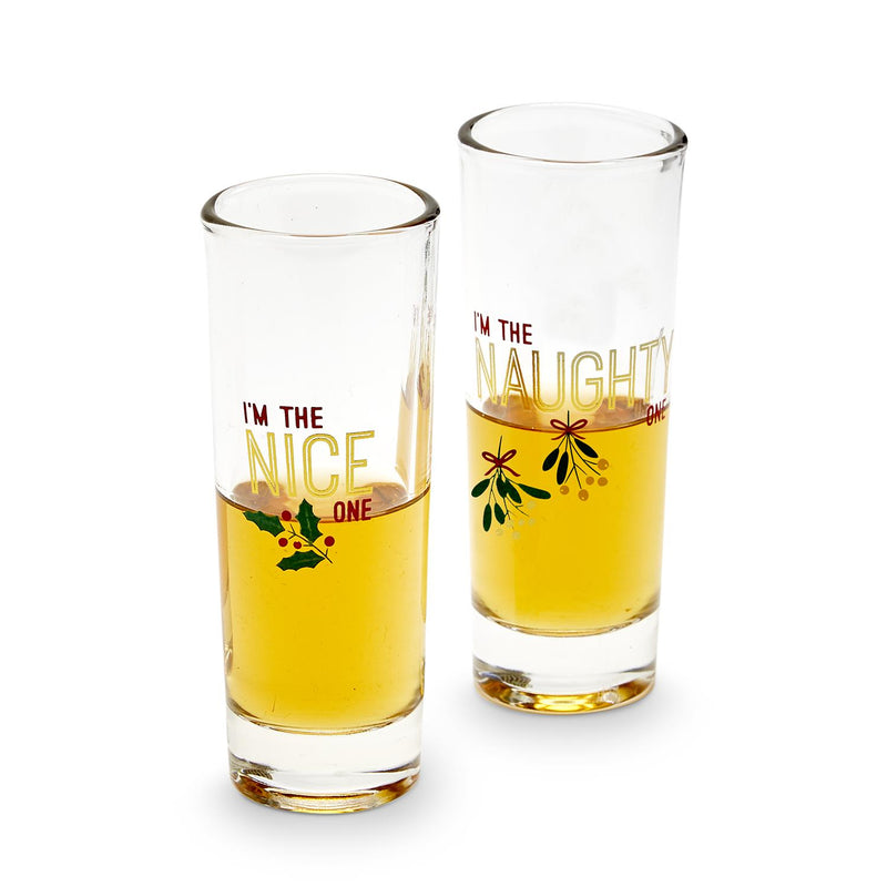 Naughty or Nice Shot Glasses