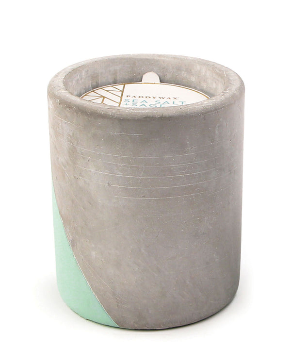 Sea Salt + Sage Large Concrete Candle, 12 oz./340g
