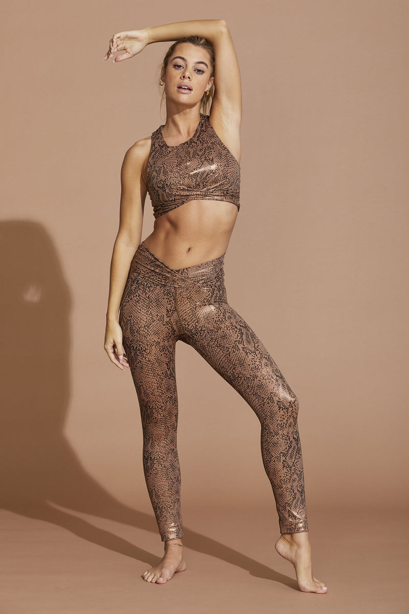 Riot Shine Crop Rose Gold Snake