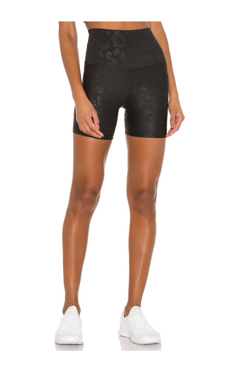 Black Leopard Bike Short