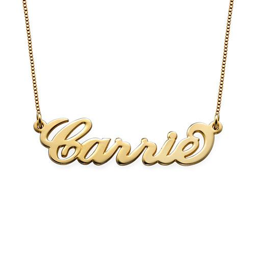 Name Plate Cursive Necklace