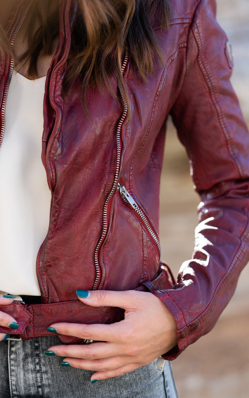 Ox Red Leather Jacket