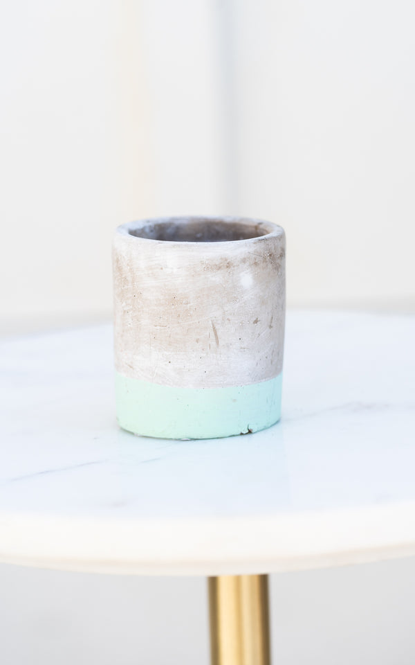 Small Sea Salt + Sage Concrete Candle, 3.5oz.
