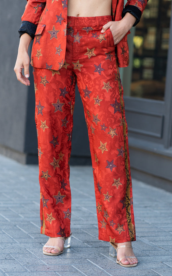 Star Jacquard Trousers
