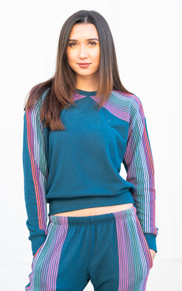 Striped Malibu Crew Neck