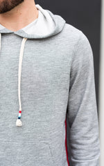 Sol Angeles Hoodie in grey with red and black