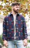 Corridor Patchwork Jacket with red,blue,tan, and black