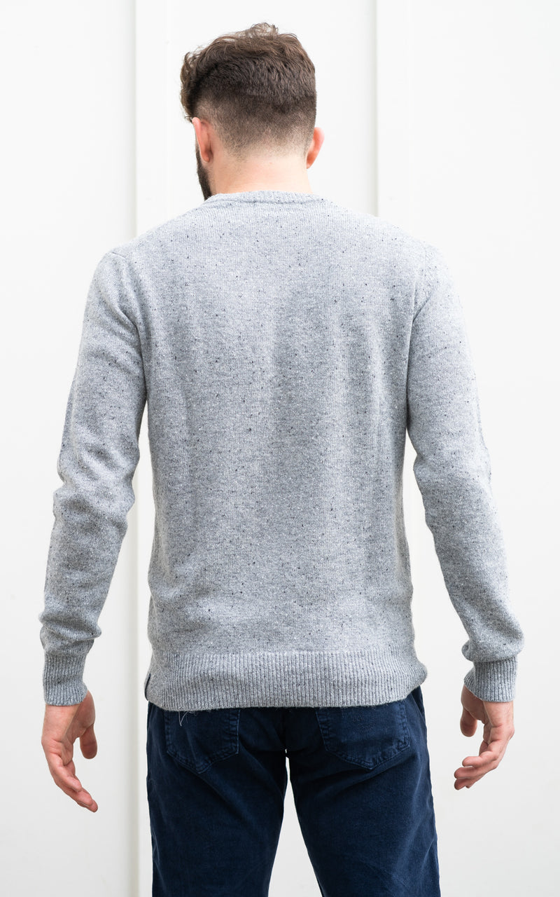 Classic Wool-Blend Crewneck Grey