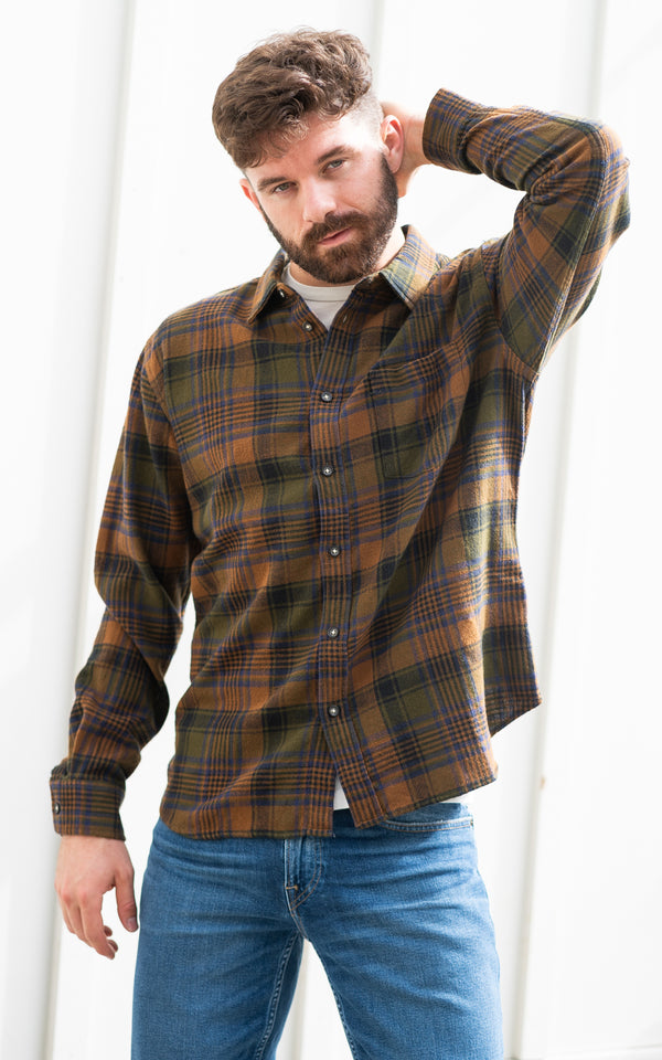 Brown Unity Plaid Longsleeve