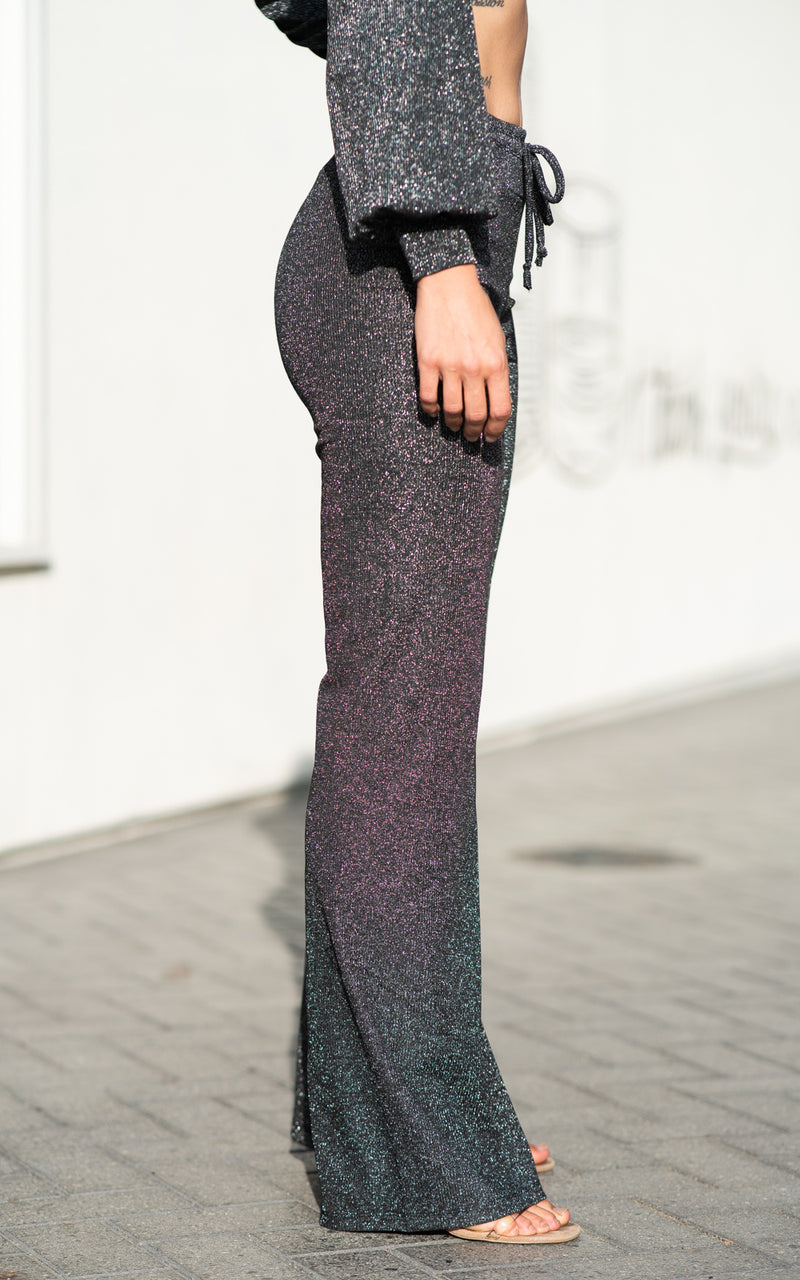 black sparkly pants by beach riot
