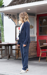 scotch and soda drapey pinstripe blazer