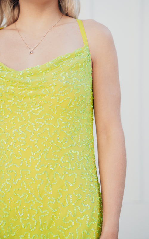 Suzanna Slip Dress Lime