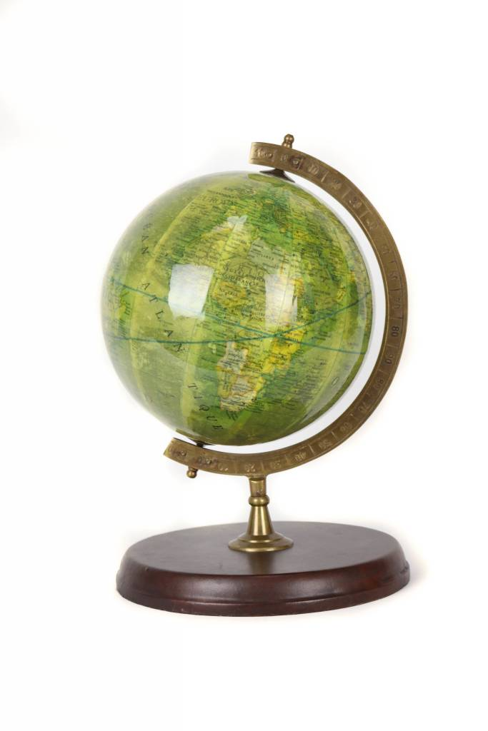Globe with Leather