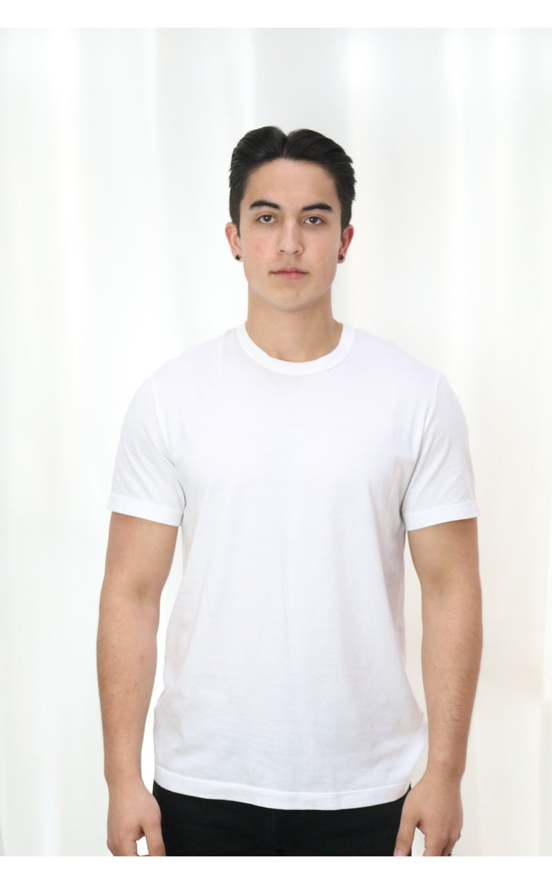 White Short Sleeve Crew Neck
