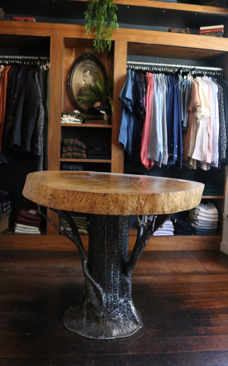 Tree Table - Whiskey & Leather