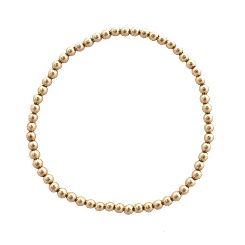 Isabella Ball Bracelet Gold 3mm