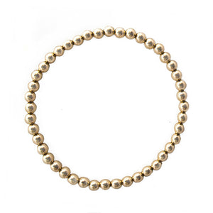 Isabella Ball Bracelet Gold 4mm