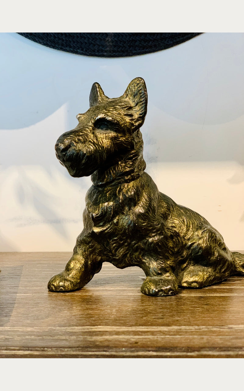 Scottie Door Stop - Whiskey & Leather