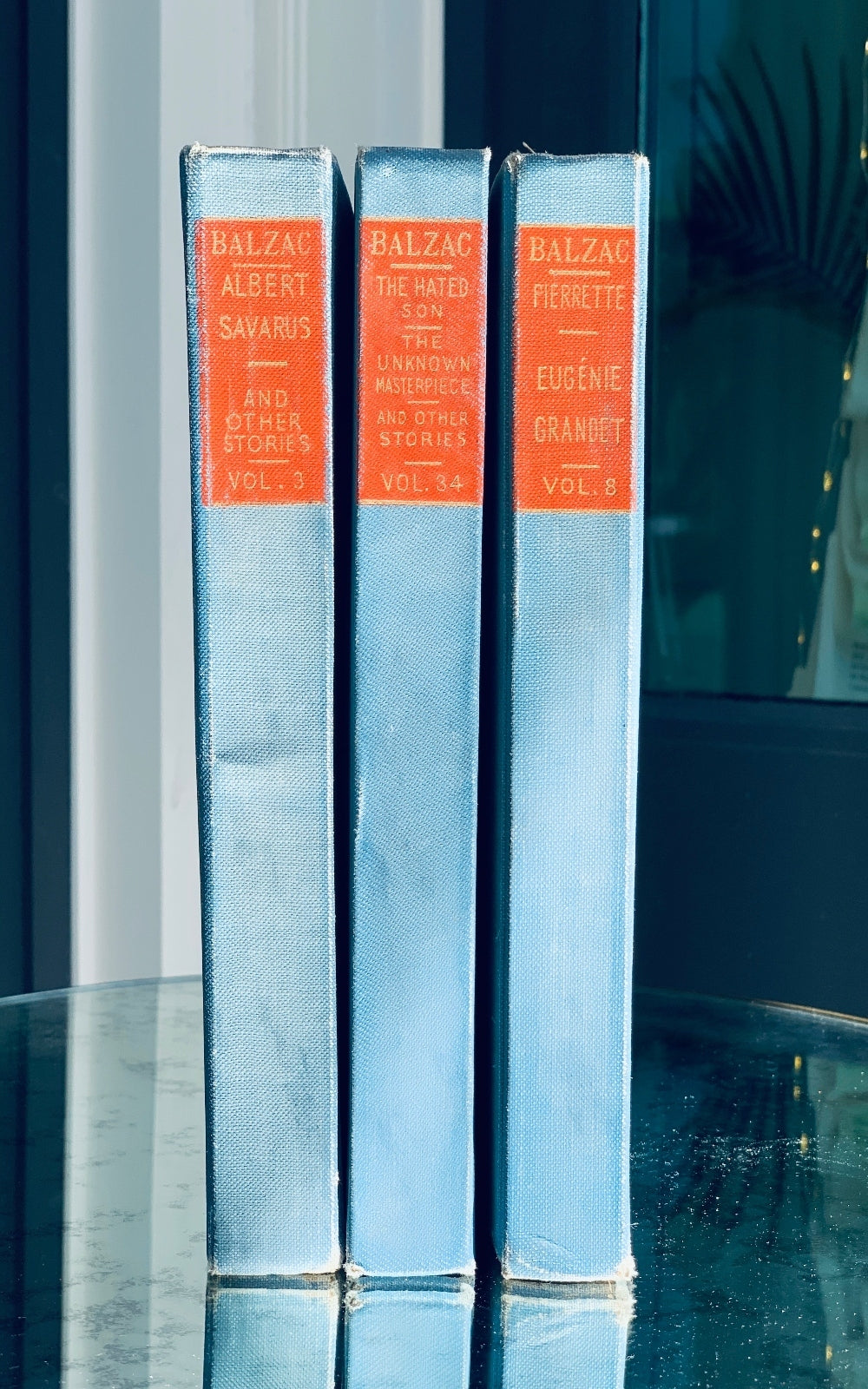 Antique Books Red Blue