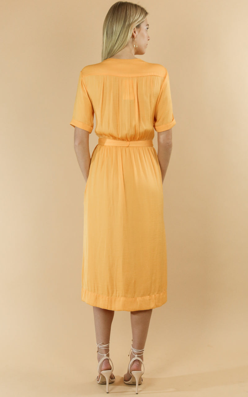 Midi Length Wrapover Dress