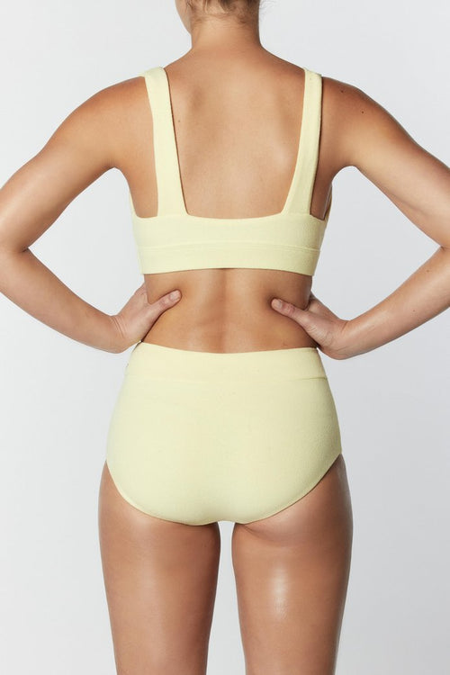 Lemon Plunge Top